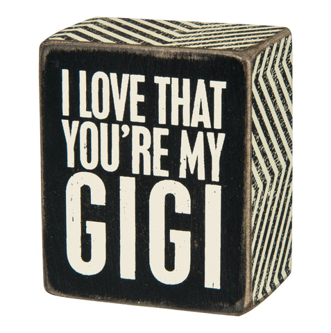 Box Sign - My Gigi
