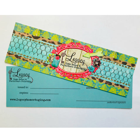 colorful Gift Certificate