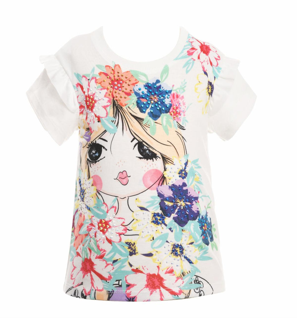 Girl With Flowers Top