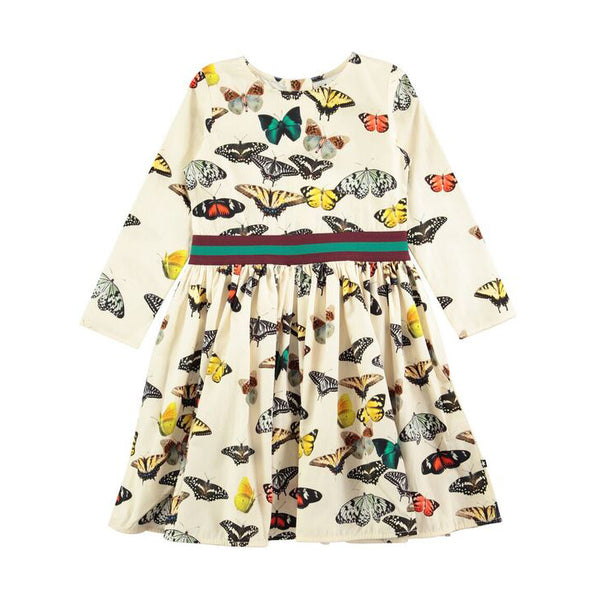 Butterflies Stripe Dress