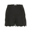 Ama Black Scalloped Shorts