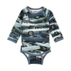 Stacked Cars Field Onesie