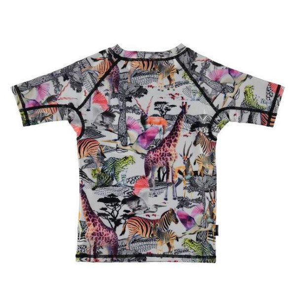 Safari Animals Short-Sleeved Rash Guard
