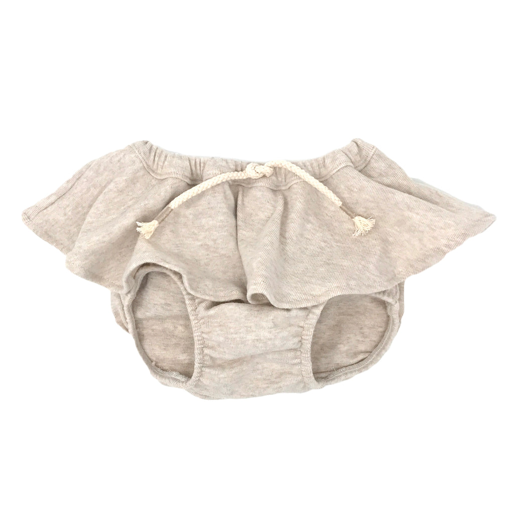 Skirted Tushie Diaper Cover-Sand