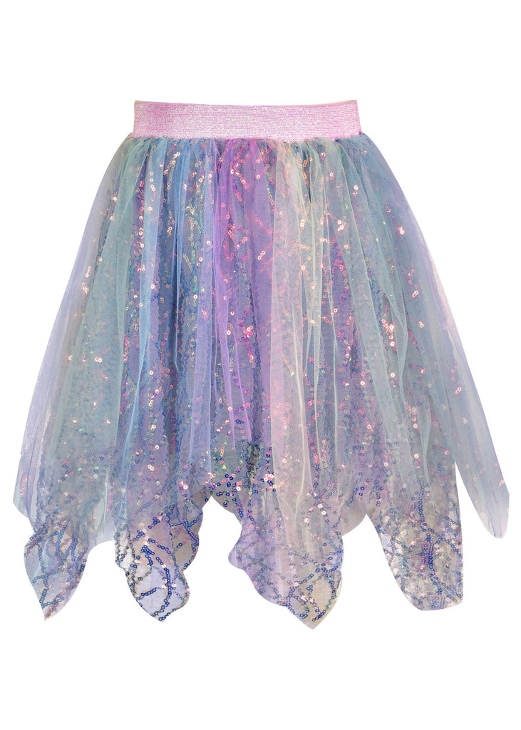 Mermaid Sequin Handkerchief Tutu Skirt