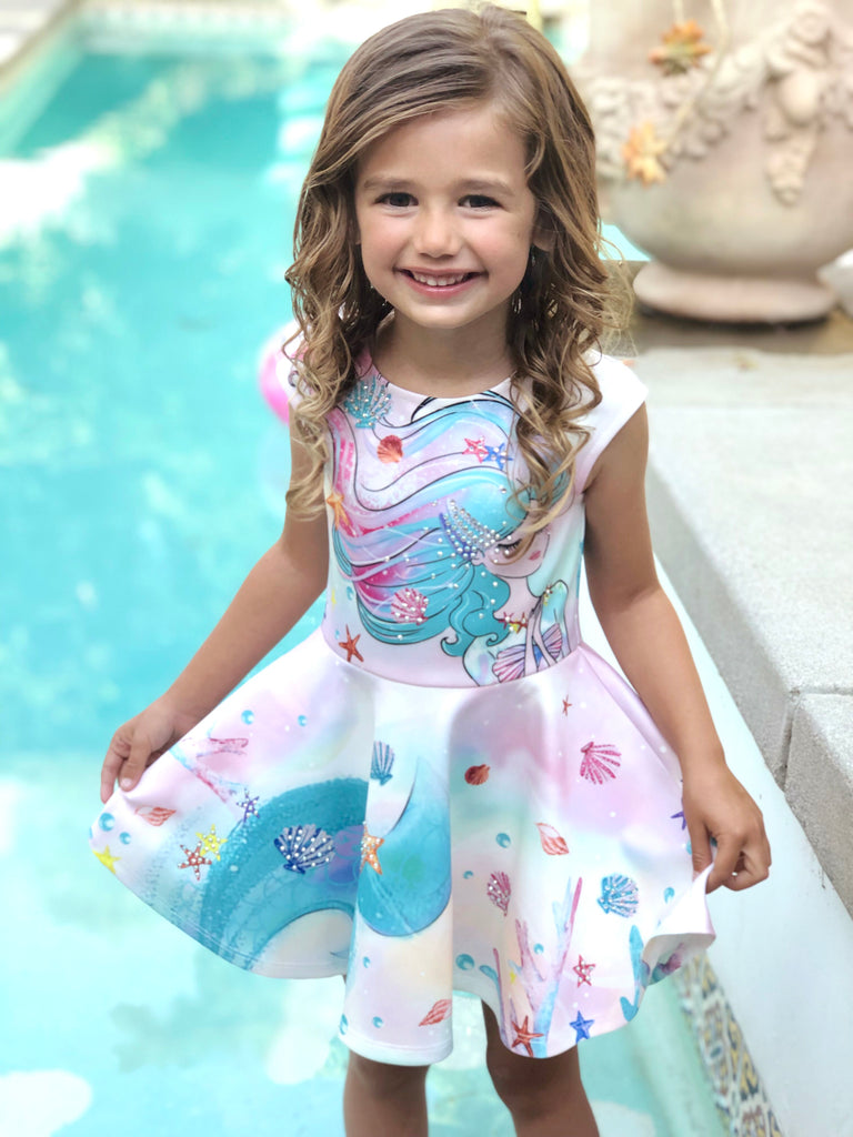 Praying Mermaid Skater Dress