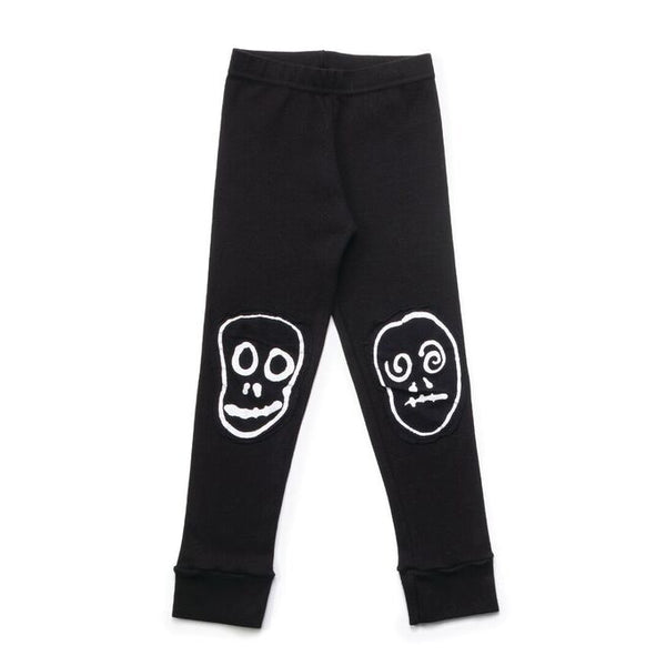 Skull Mask Patch Leggings