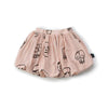 Skull Mask Balloon Skirt in Powder Pink