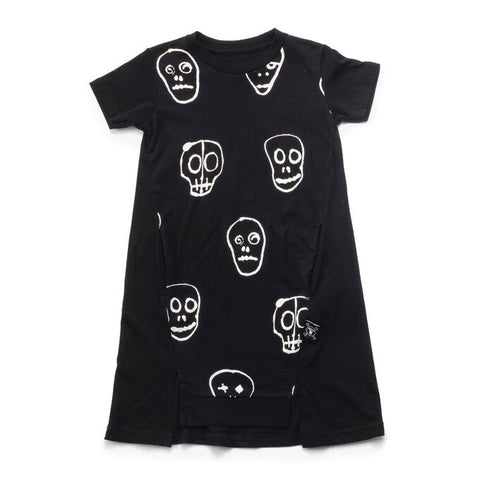 Skull Mask A Dress in Black