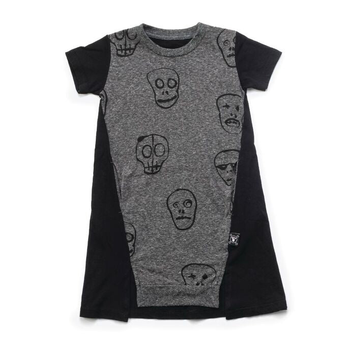 Skull Mask A Dress in Charcoal