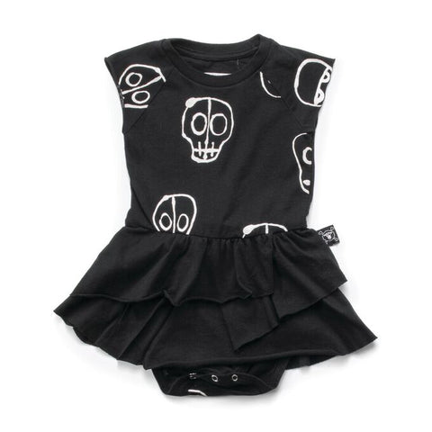 Skull Mask Onesie in Black