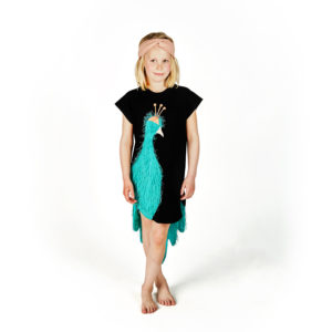 Peacock Green Dress