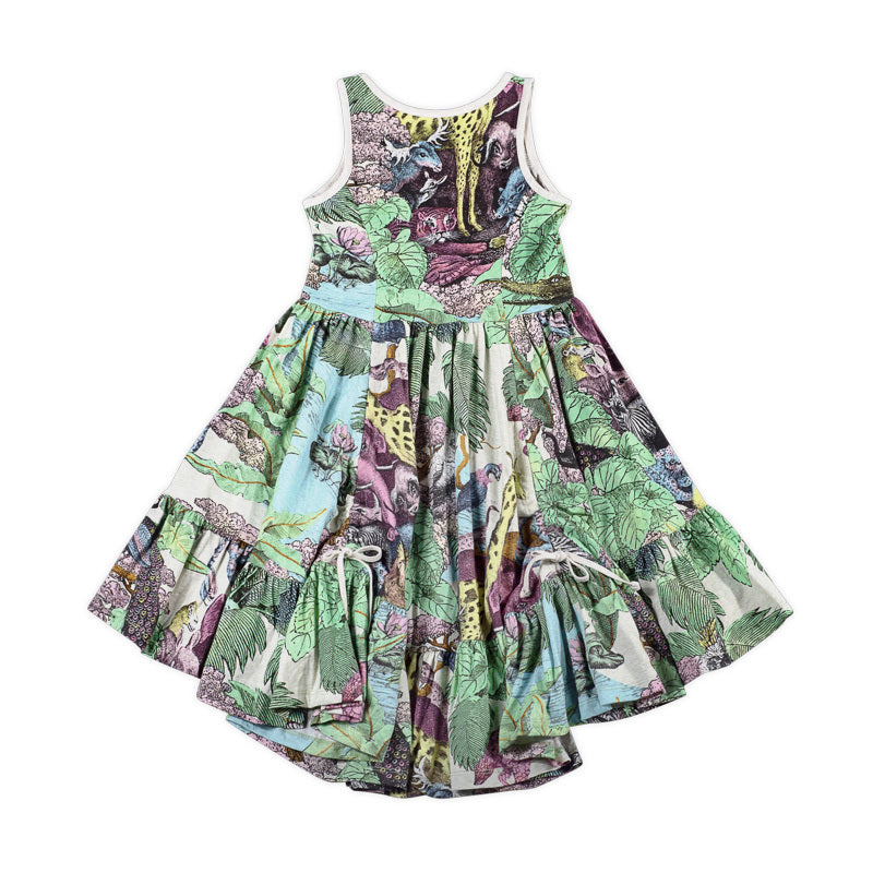 Frilled Safari Swing Dress