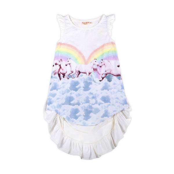 Bustle Rainbow Horses Dress