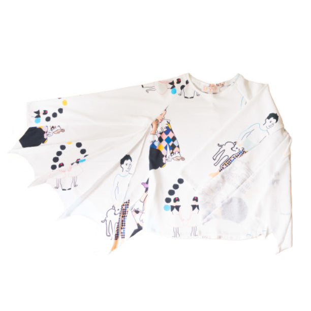 Bat Tee in Picasso Print
