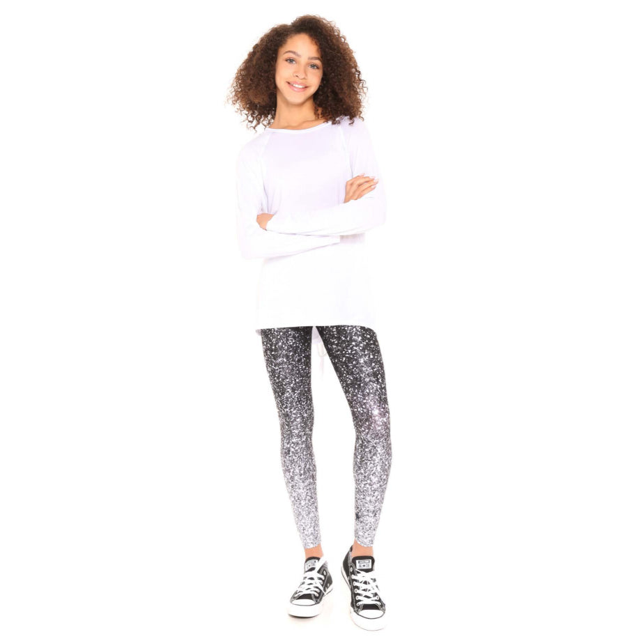 B & W Glitter Leggings