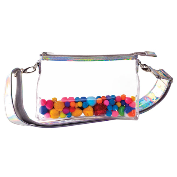 Pom Pom Clear Belt Bag