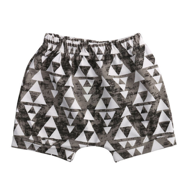 Distressed Triangle Shorts