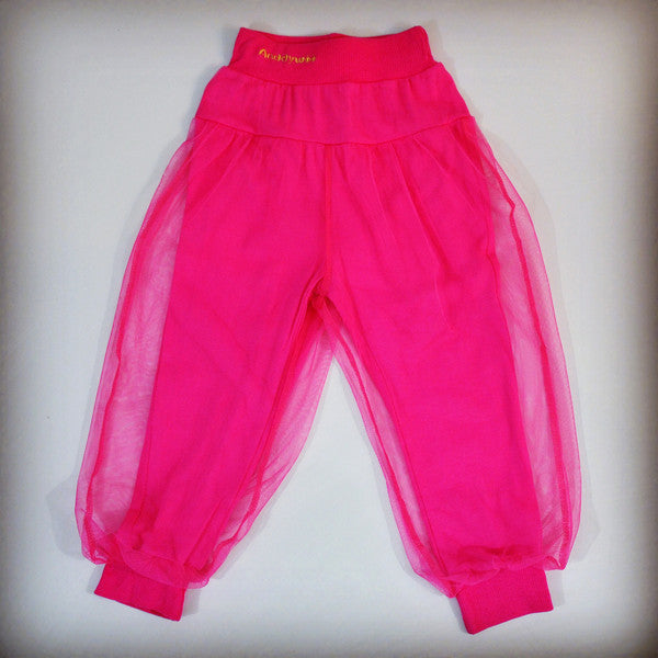 Toddler girls bright pink genie pants