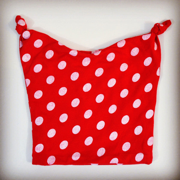 Hipster red and white polka dot stocking cap for babies