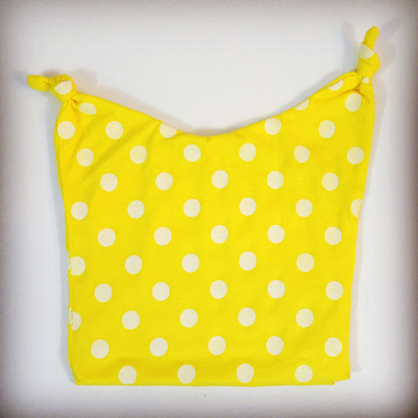 Hipster yellow and white polka dot stocking cap for babies