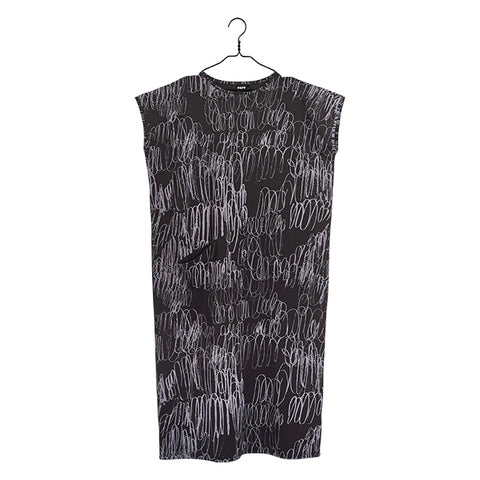 Route Print One Pocket Dress, Adult