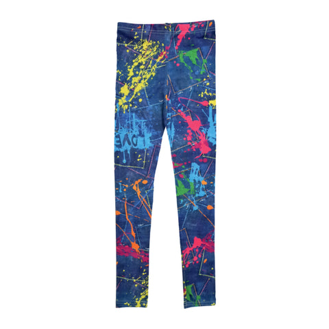 Paint Splatter Denim Leggings