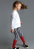Striped Leggings + Rib in Red