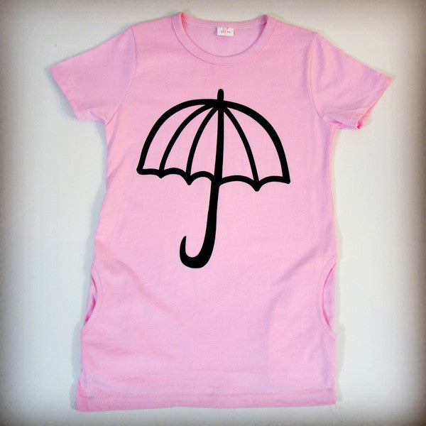 Light pink umbrella dress for children, girls