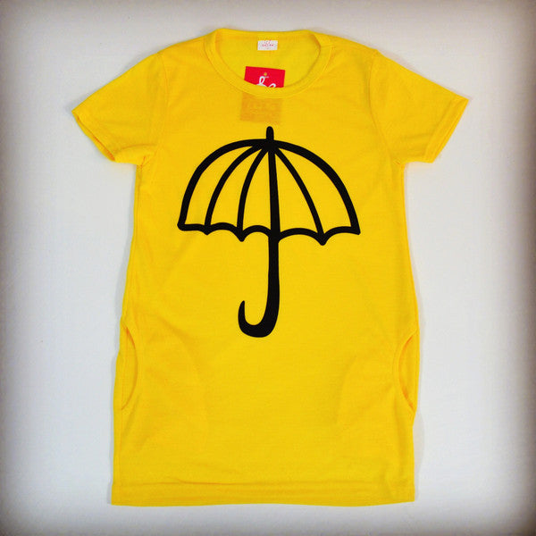 Yellow umbrella dress for children, girls