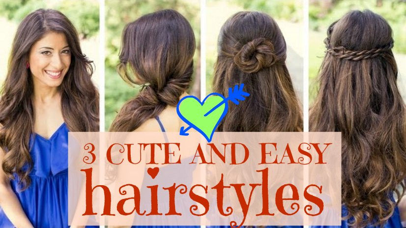 (VIDEO) Hair tutorial: 3 cute and easy hairstyles perfect for everyday!