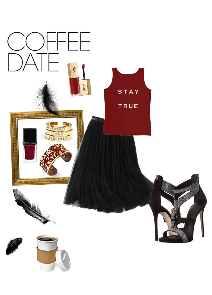 Cute outfit for a dreamy coffee date
