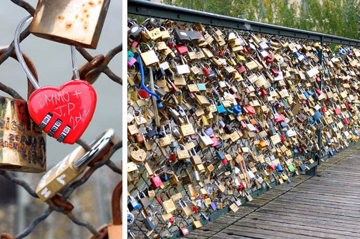 Locks of love have damaged Pont des Arts