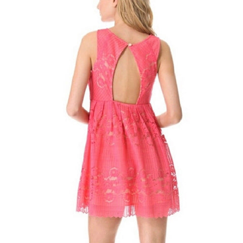 Free People Pink Coral Lace Summer Dress