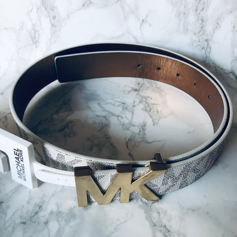 Michael Kors Belt With Gold Logo -Size M