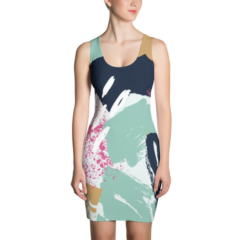 Abstract Painting Pattern Print Dress