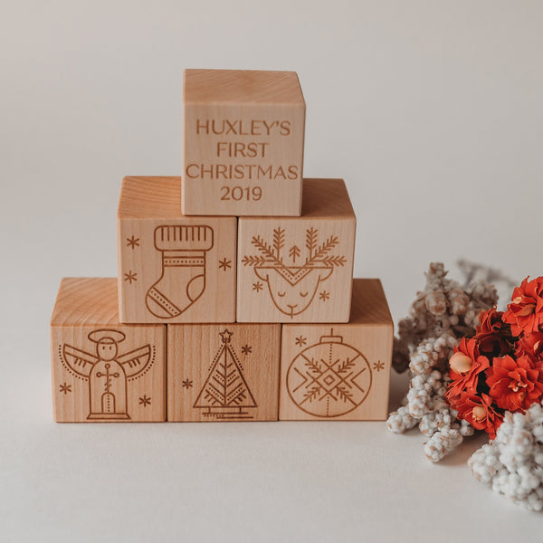 Personalised First Christmas toys handcrafted in Australia
