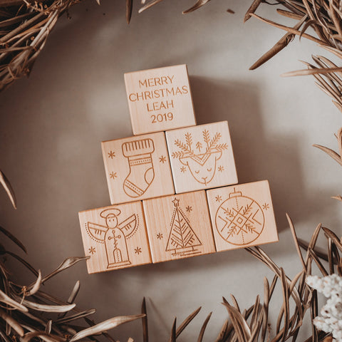 Personalised Merry Christmas Blocks