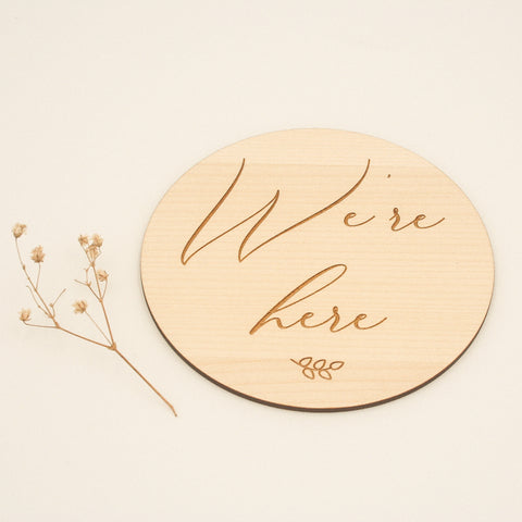 Having twins? The perfect wooden birth announcement plaque
