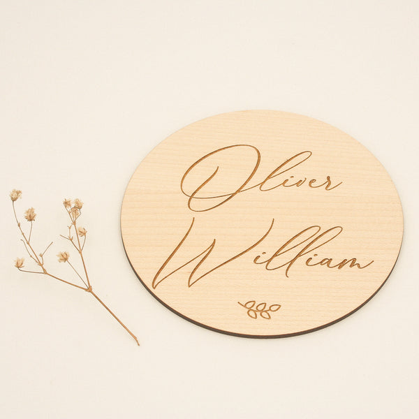 A wooden personalised birth announcement plaque is a lovely way to announce a new birth!