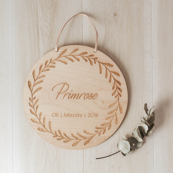 Personalised Date Of Birth Name Plaque - noc noc wooden toys Name Plaque