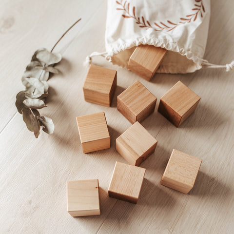 Blank Wooden Baby blocks