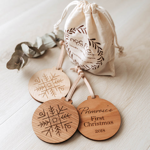 Personalised Christmas Ornaments - noc noc wooden toys Christmas