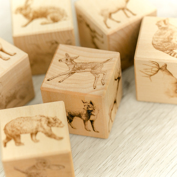 Woodland Wooden Blocks - noc noc wooden toys Blocks