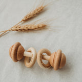 Personalised Date of Birth Wooden Rattle
