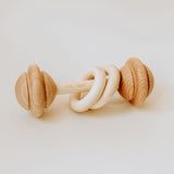 Wooden rattle handmade in Australia makes the perfect baby gift.
