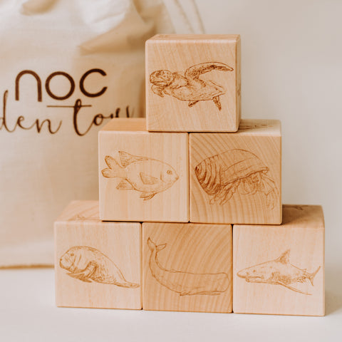 Under The Sea Wooden Blocks