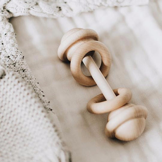 Organic Wooden Rattle - noc noc wooden toys Rattle