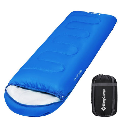 KingCamp Envelope Sleeping Bag 4 Season Lightweight Comfort with Compression Sack Camping Backpack 26F/-3C