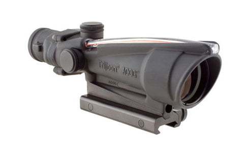 Trijicon TA11F ACOG 3.5x35 Scope, Dual Illuminated Red Chevron BAC .223 Flattop Reticle